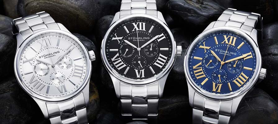 amazon com stuhrling original men s 391g 03 regent majestic stuhrling men s regent multifunction watch