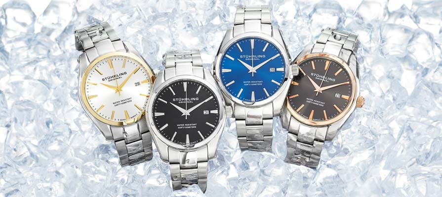 amazon com stuhrling original men s 414 33111 classic ascot prime stuhrling original men s ascot swiss quartz watches
