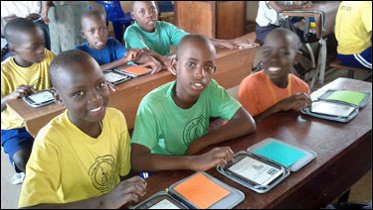 Worldreader uses Amazon's Whispercast to deliver eBooks to these students' Kindle devices
