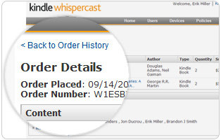 With Whispercast, organizations can easily track their purchase history