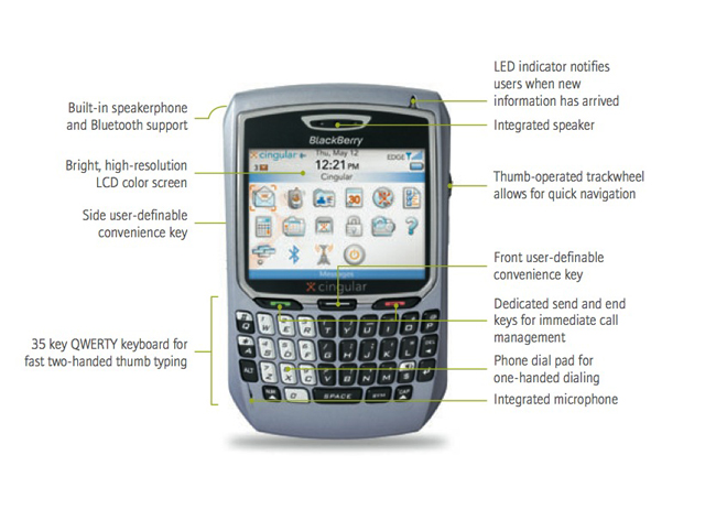 blackberry 8700c cingular gsm wireless handheld cell phones accessories. Black Bedroom Furniture Sets. Home Design Ideas