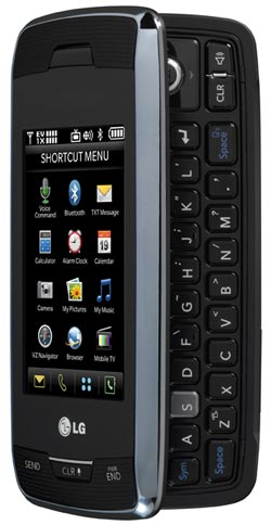 amazon com lg voyager vx10000 phone black verizon wireless cell rh amazon com Verizon LG Phones Samsung Voyager