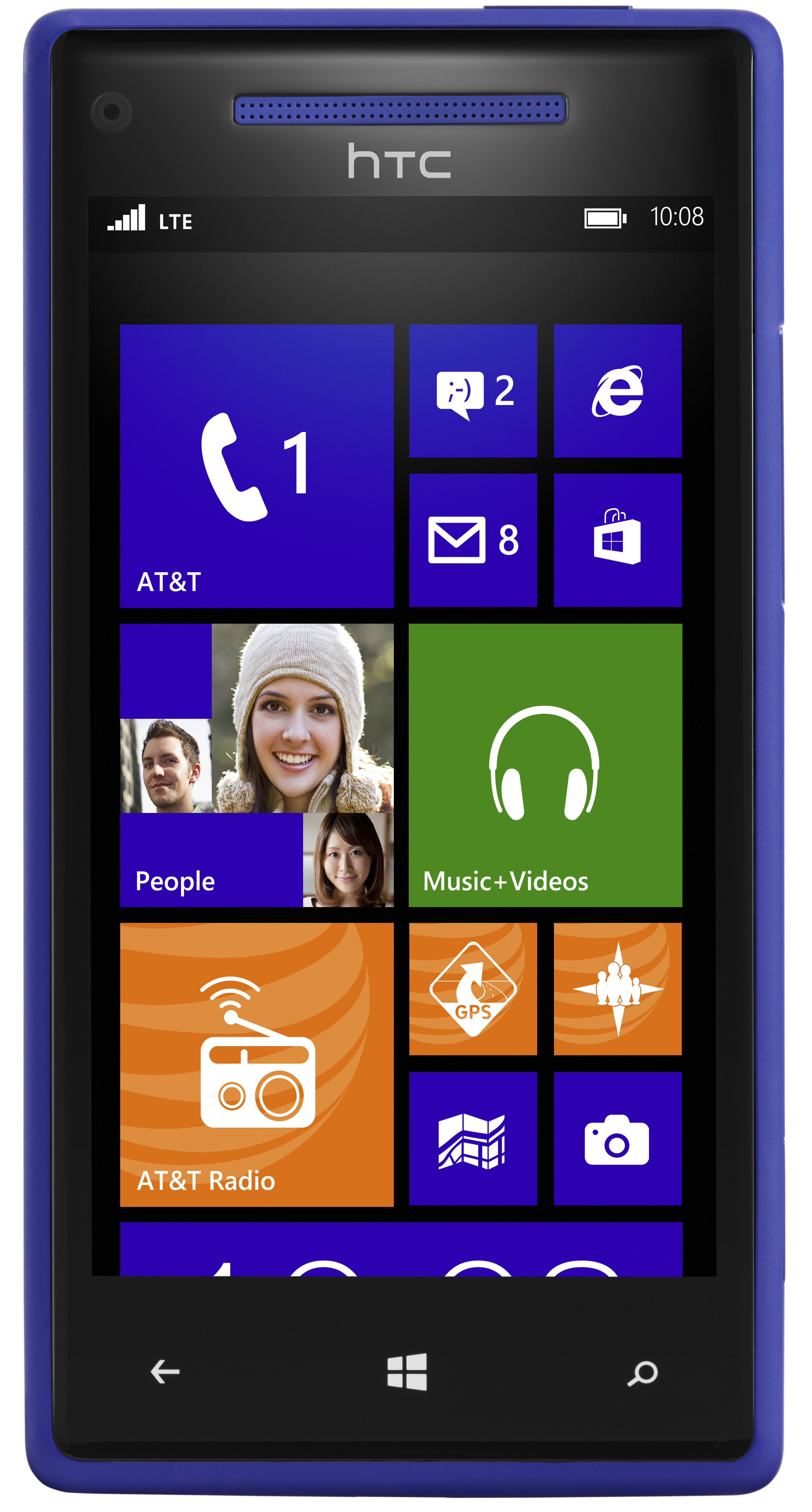 htc 8x blue 8gb at t cell phones accessories. Black Bedroom Furniture Sets. Home Design Ideas