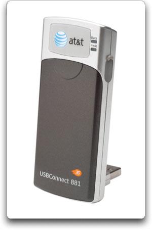 at t usbconnect 881 usb modem umts hsdpa hsupa cell phones accessories. Black Bedroom Furniture Sets. Home Design Ideas