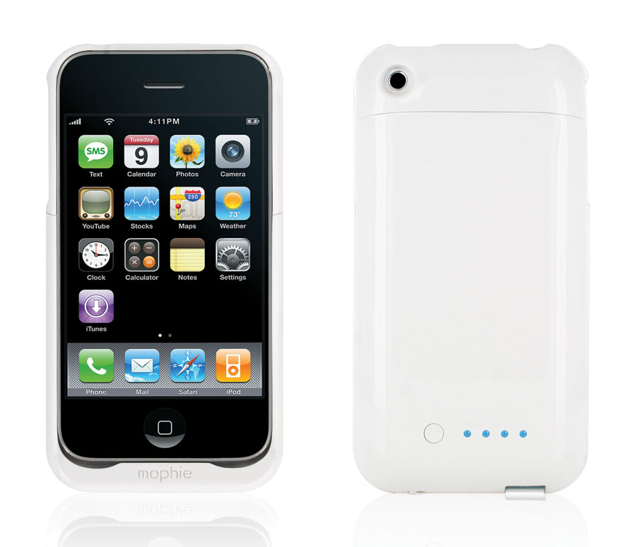 super cute cdf80 ace84 Mophie Juice Pack Air Case and Rechargeable Battery for iPhone 3G, 3GS  (White)
