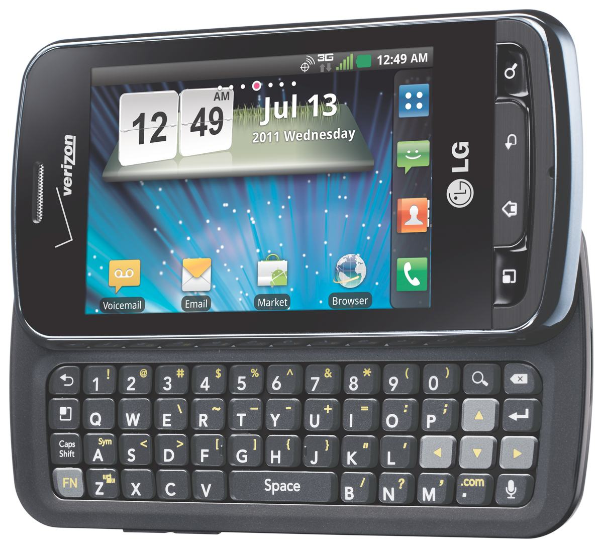 Phone Android Phone With Keyboard amazon com lg enlighten black 2gb verizon wireless cell com