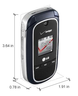 amazon com lg vx8360 phone silver verizon wireless cell phones rh amazon com LG VX9400 LG VX8370