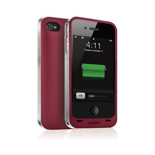 new arrivals f3766 c6933 mophie juice pack Air for iPhone 4/4s - Red
