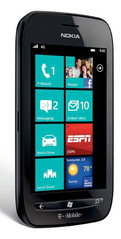 nokia lumia 710 black 8gb t mobile cell phones accessories. Black Bedroom Furniture Sets. Home Design Ideas