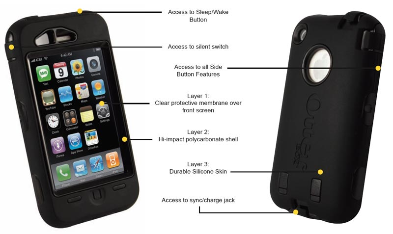 Amazon OtterBox Defender Case For IPhone 3G 3GS Black