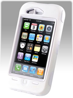 new product 6a401 099ef OtterBox Defender Case for iPhone 3G, 3G S - White (Discontinued by  Manufacturer)
