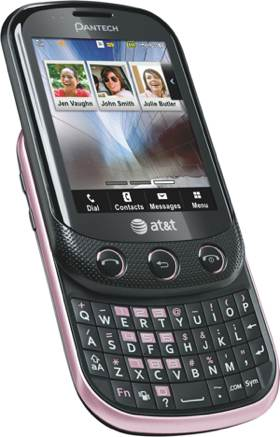 pantech pursuit ii phone pink at t cell phones accessories. Black Bedroom Furniture Sets. Home Design Ideas