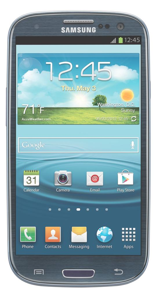 samsung galaxy s3 blue 16gb at t cell phones accessories. Black Bedroom Furniture Sets. Home Design Ideas