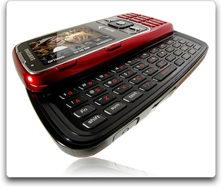 Amazon Com Samsung Rant M540 Cell Phone Sprint Red Cell