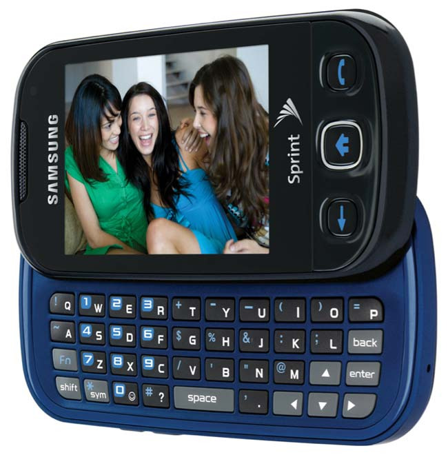 Amazon Com Samsung Seek M350 Phone Cool Blue Sprint