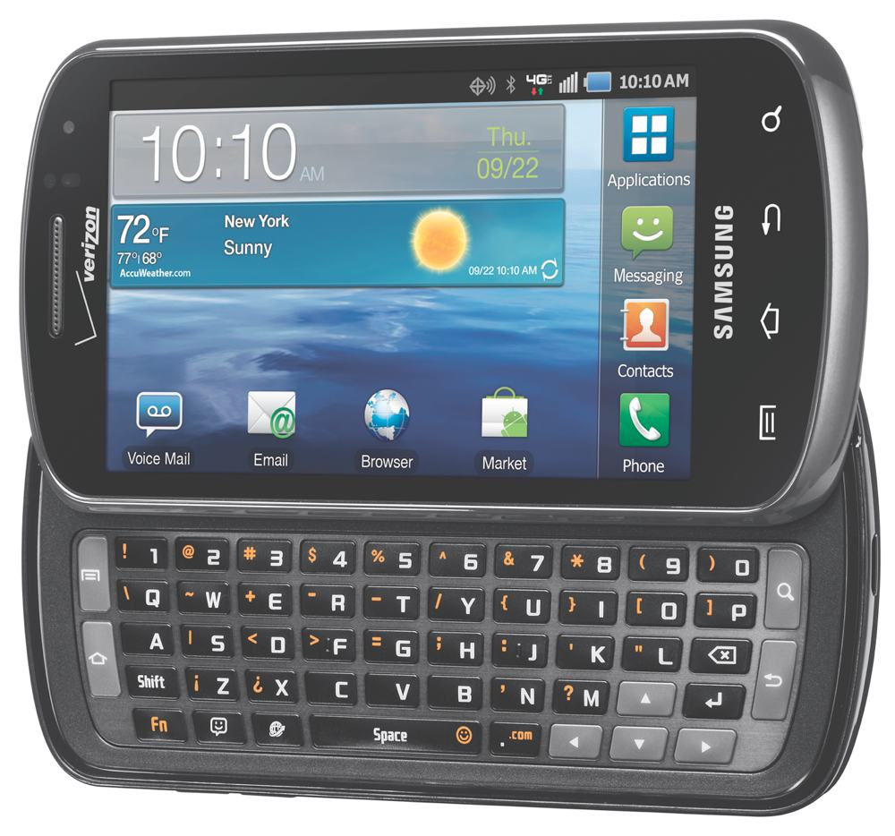 Camera Samsung Qwerty Android Phone amazon com samsung stratosphere 4g android phone verizon 4 inch display view larger