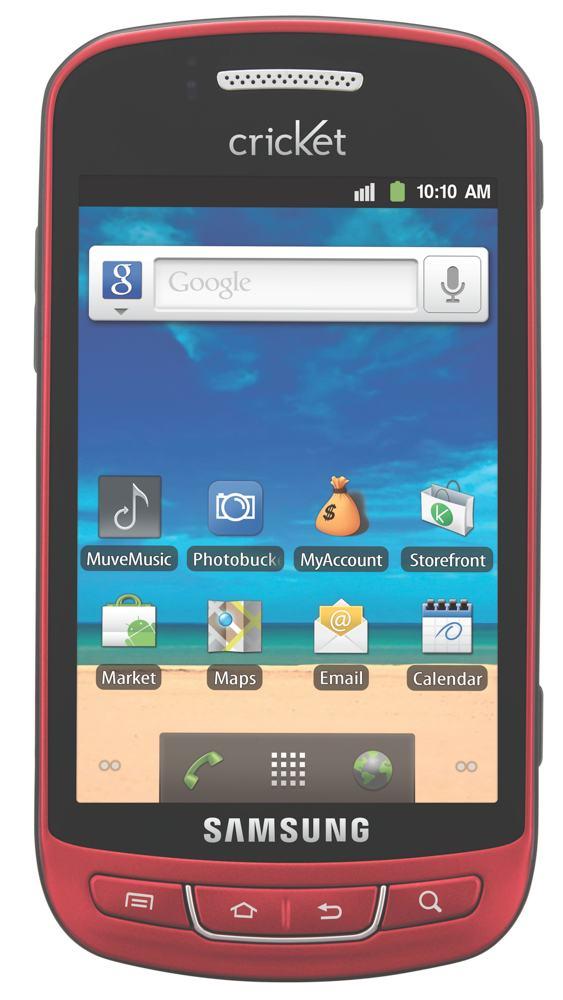New Samsung Vitality Sch R720za Red Cricket Prepaid No