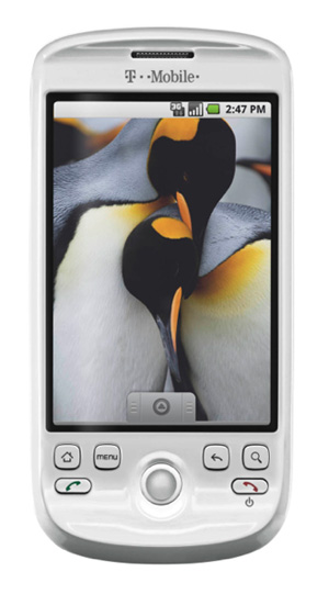 The T-Mobile myTouch 3G in white