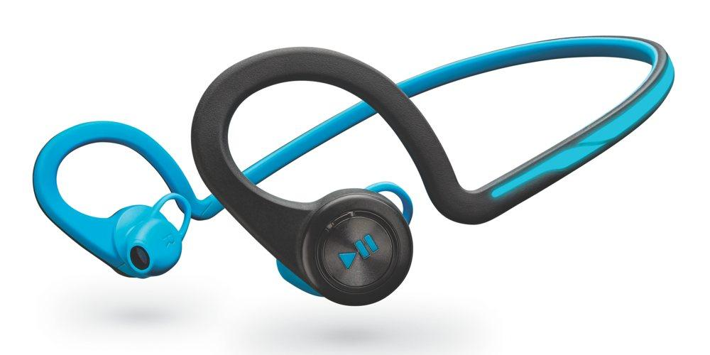 plantronics backbeat fit bluetooth headphones blue cell phones accessories. Black Bedroom Furniture Sets. Home Design Ideas