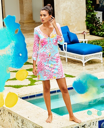 V neck summer dress patterns lilly pulitzer
