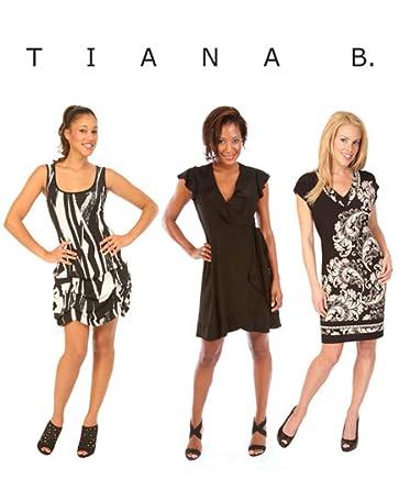 Tiana b black dress and red