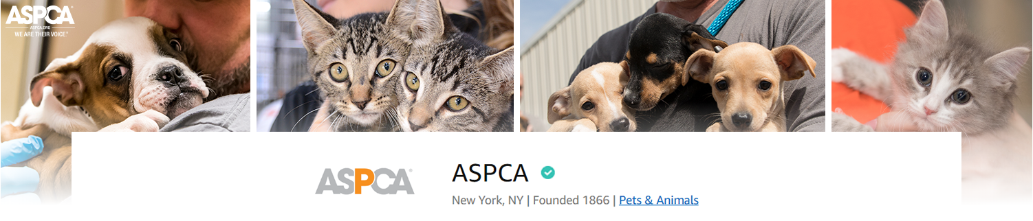 ASPCA was founded 1866 and is in the Pets & Animals category.