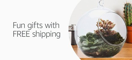 Fun gifts with free shipping