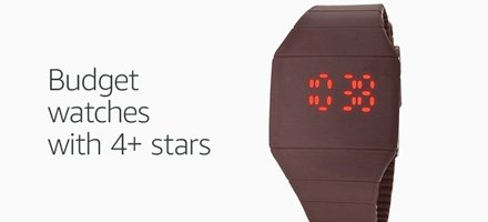 Budget watches with 4+ stars