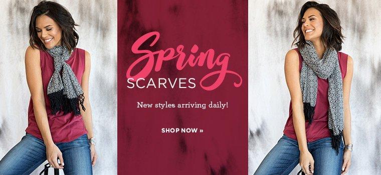 Shop Spring Scarves New Arrivals