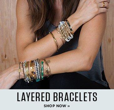 Shop for layered bracelets
