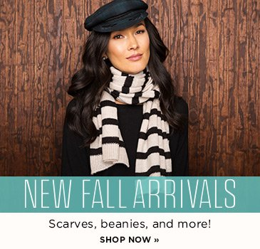 SP1 Fall accessories new arrivals. Shop scarves, beanies and more!