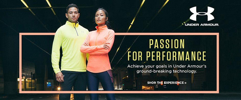 Passion for Performance. Achieve your goals in Under Armours ground breaking technology. Shop the experience.