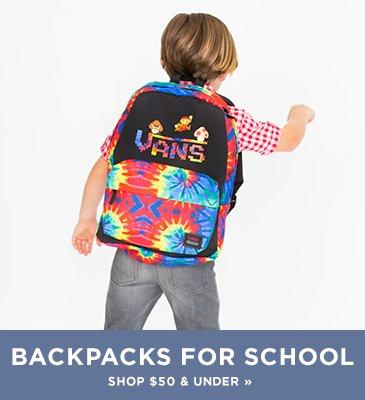Promo1: Shop backpacks under $50 for boys