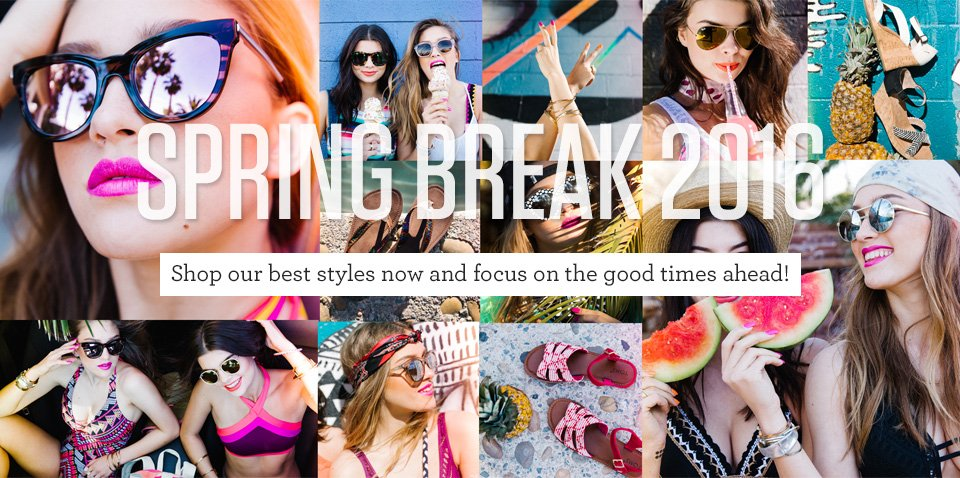 Spring Break Checklist: Bikinis, Cute Totes, Coverups, Sandals, Sunglasses