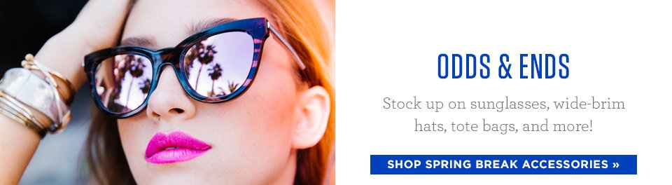 Spring Break Accessories - Cute Totes, Sunglasses, Towels, and More
