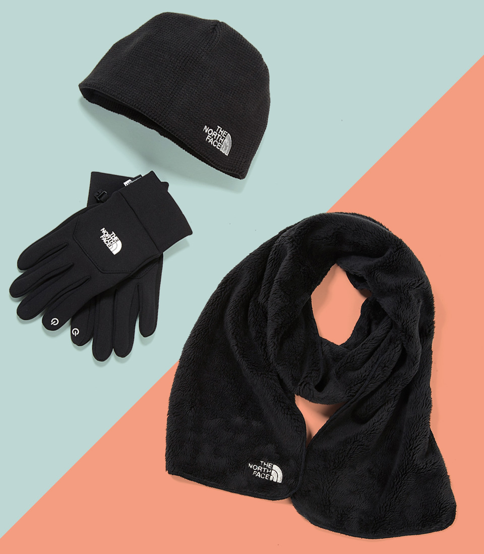 Image of North Face cold weather accessories