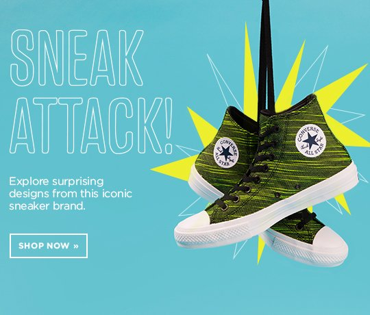 Sneak Attack! Explore surprising designs from this iconic sneaker brand (Converse). Shop Now