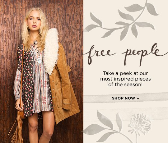 Hero-2-FreePeople-18-9-2016 Free People. Take a peak at our most inspired styles of the season. Shop now.