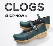 sp-2-Clogs-18-9-2016 Clogs. Shop now. Image of a green Dansko clog.