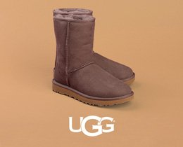 UGG. Image of an ugg classic short boot, Shop Now.