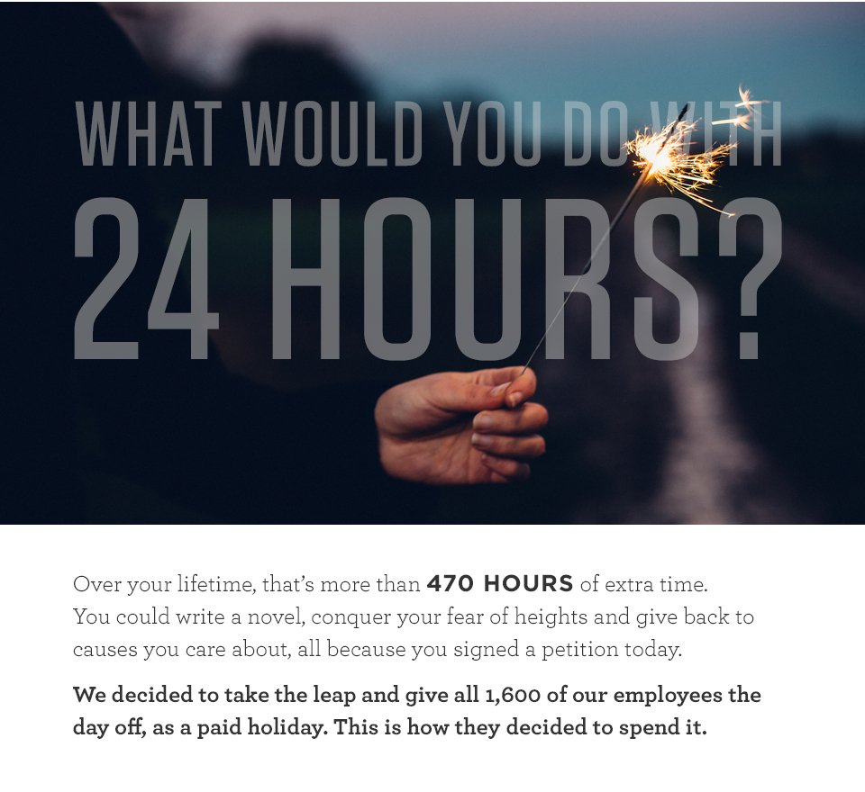 What would you do with an extra 24 hours