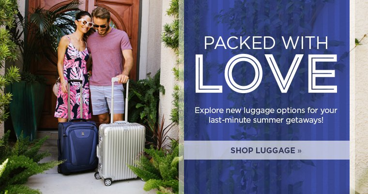Header: Luggage New Arrivals