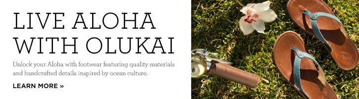 Banner - Live Aloha - Learn more about OluKai's brand philosophy