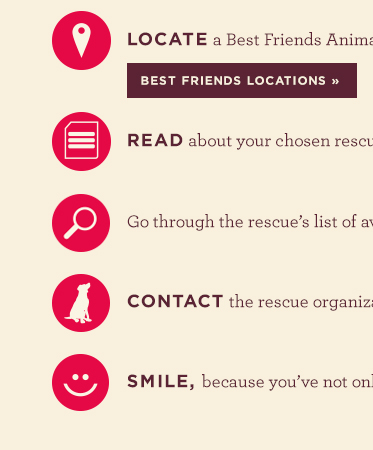 Locate a Best Friends location to find your new best friend for FREE