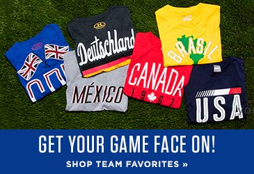 Shop to support your country at the big games!