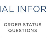 Order Status Questions