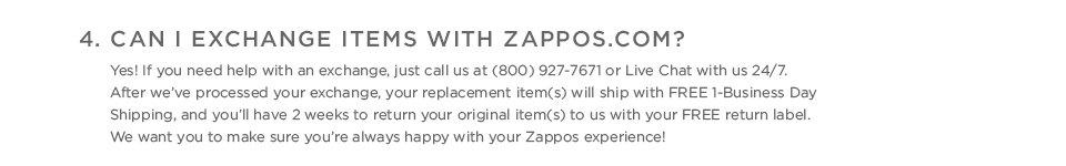 Shipping and Returns FAQ #4