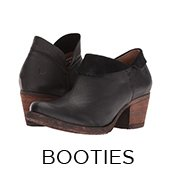 Ankle Booties. Image of a black Born Ankle bootie.