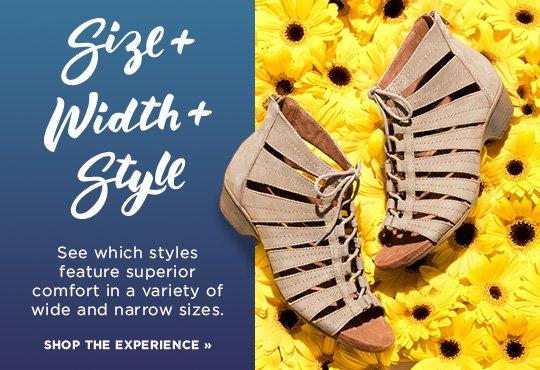 Shop Size Width Sandals Lookbook
