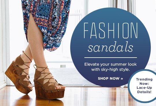 Shop Fashion Sandals